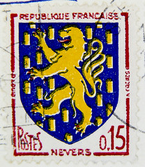 beautiful french stamp Briefmarke France 0,15F Nevers timbre Francaise Frankreich armorial bearings hatchments shield lion image pic RF Postes francaise postage coat of arms francobolli bollo sello marke marka franco timbres Frankreich Briefmarken (stampolina) Tags: blue france azul postes french heraldry coatofarms blauw blu stamps flag flags stamp bleu bandera blau timbre  niebieski mavi fahne flagge shields biru bleue selo blason bl bandiera wappen sellos asul sininen blou briefmarken arme      francobollo selos plava timbres kk  armoiries timbreposte francobolli bollo blr  zils mlynas   hatchments blasone  modr  frimaerke sellodecorreo azzur    muxanh   postapulu huzhng amorialbearings selodecorreio