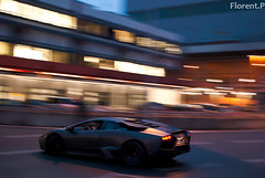 Lamborghini Reventon (Lambo8) Tags: horse night matt grey gris switzerland photo hp nikon power suisse geneva d s mat 55mm 650 1855mm af nikkor 18 55 ge panning genve lamborghini matte ch v12 18mm 1520 afd reventon grise d80 worldcars 650hp 650bhp 650ch