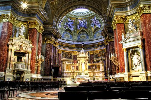 St Stephen church. Altar. Budapest. Basílicad de San Esteba