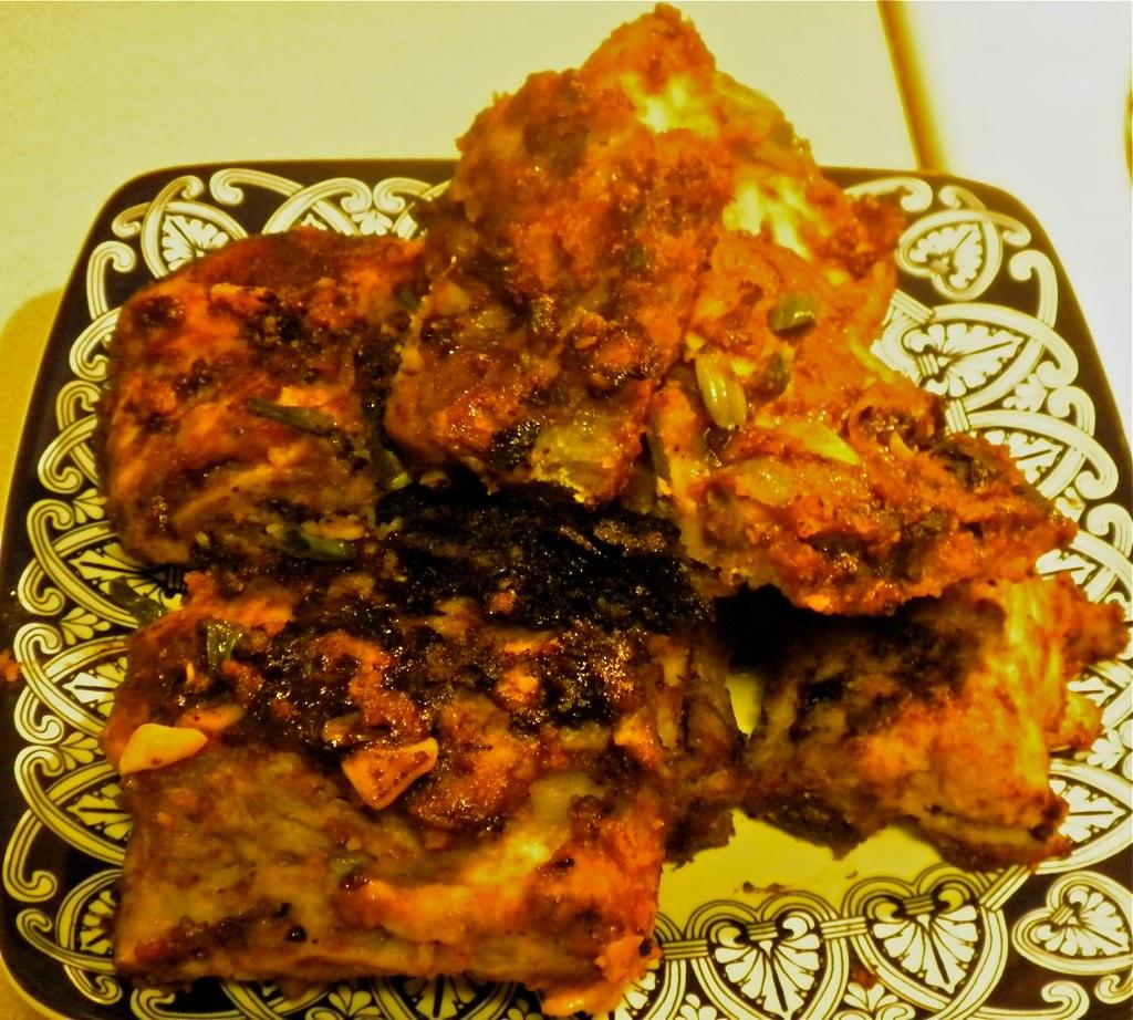 Pork loin seared in Korean bbq sauce
