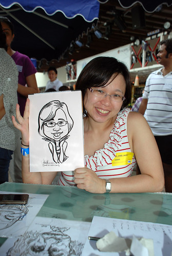 Caricature live sketching for VISA Beach Party 2010 -16