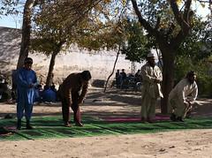 Time for Prayer in School Yard