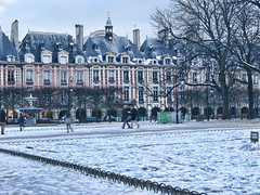 VERY HAPPY 2011 FLICKR BUDDIES (blueiceparis) Tags: winter sky snow paris france beauty hotel jardin ciel monuments particulier
