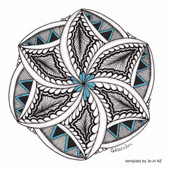 mandala009 (Amaryllis Creations) Tags: mandala penink zentangle