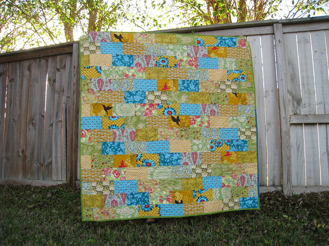 Brick Path Quilt for Mom