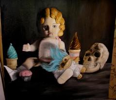 bodegon (NatSiso) Tags: arte troll russ helado pintura calavera muñeca oleo