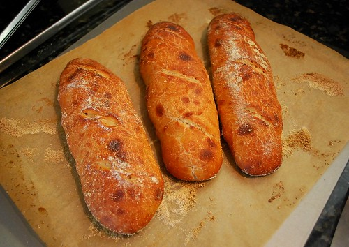 whole wheat mini baguettes