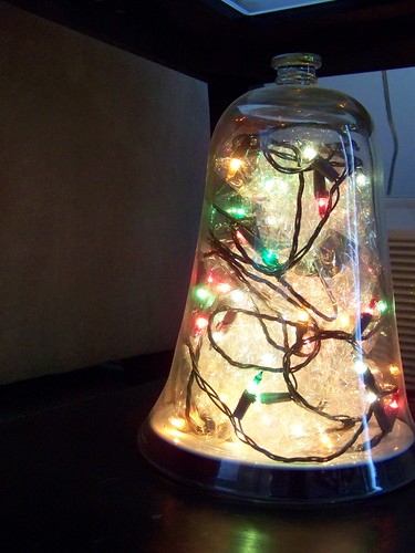 Christmas lights cloche