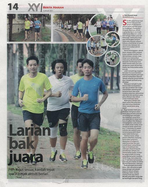 1.1 - Berita Harian - Pg 14 - Larian bak juara