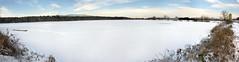 White desert (Jumpin'Jack) Tags: trees winter lake snow ice forest boat trapped flickr footprints fresh slovenia covered inthe ponds ona meet shrubbery thewhitestuff bysome jpingjk rae rakiribniki geo:lat=46439743529645696 geo:lon=15678227549568179