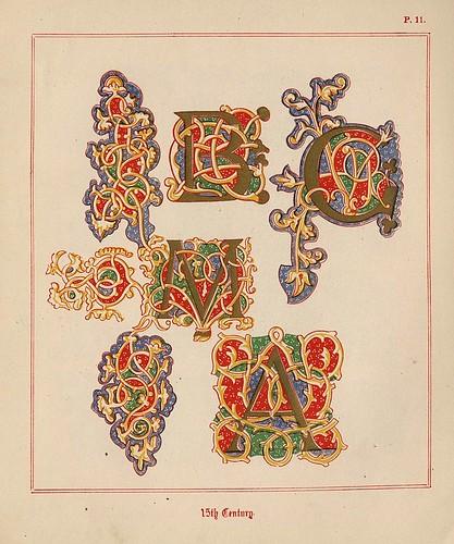 007- Medieval Alphabets and Initials 1886- F.G. Delamotte- Copyright 2006 illuminated-book.com& libros-iluminados.com