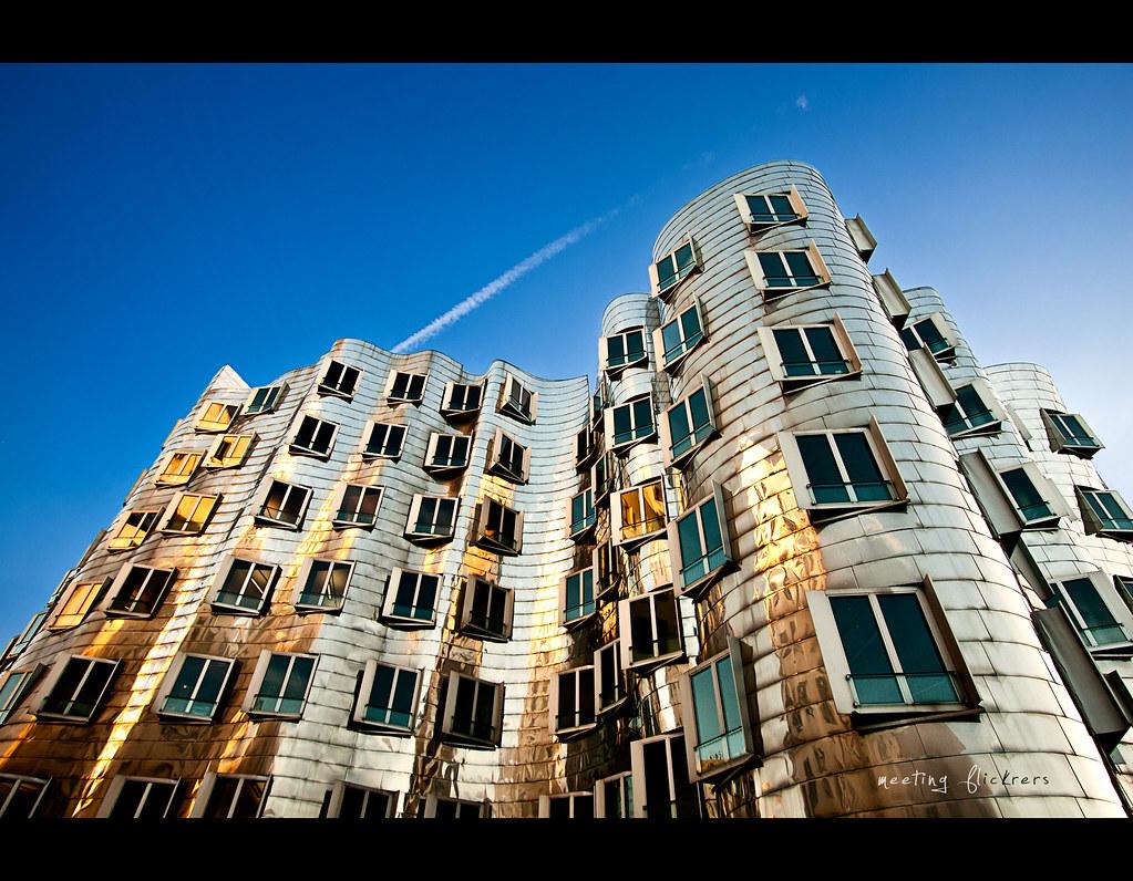 Day 153, Project 365, 153/365,  Medienhafen Düsseldorf, Medienhafen, Düsseldorf, Gehry-Bauten, Gehry, architecture, wide angle, project365