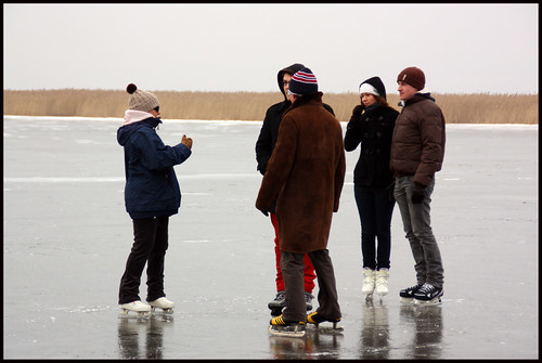 Familia sobre hielo