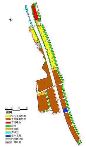中平工業區基地形狀呈狹長型,無法發揮經濟綜效。(圖片來源:苗栗縣工商發展投資策進會)