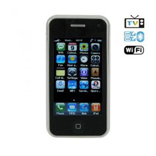 A8 Dual SIM Card Phone with WiFi & Color TV & Bluetooth – Black