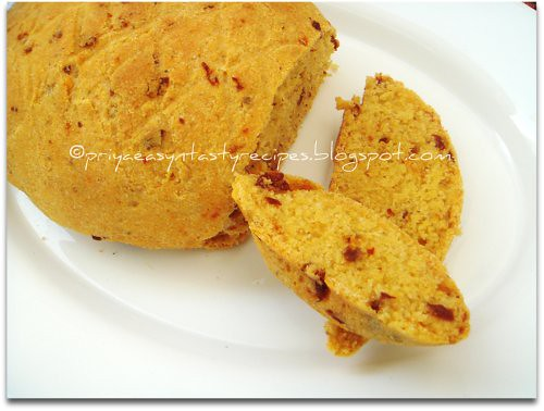 Sundried tomatoes & cornmeal bread