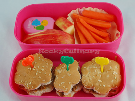 Kids Bento #123 - Pulled Pork Bento