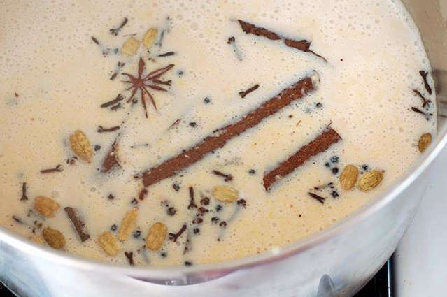 chai spiced milk