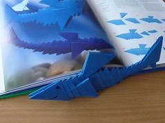 Tangrami Shark (Schmasipopasi) Tags: blue animals paper paperart shark 3d origami craft modular blau hai papier falttechnik tangrami