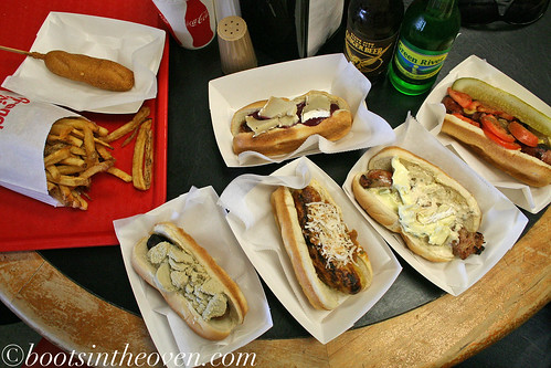 A collection of hot dogs... for two.