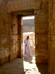 Temple Guardian, Luxor (World of Good) Tags: temple photography image egypt content photographs luxor worldofgood templeguardian misr