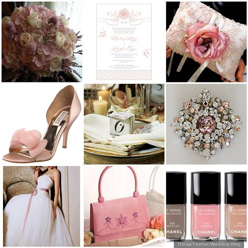 How lovely is this wedding color palette in Dusty Rose Taupe and Ivory
