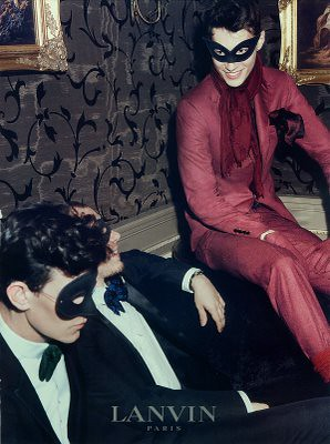 lanvin men in masks