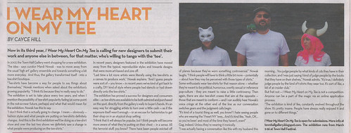 Beat article for I Wear My Heart On My Tee
