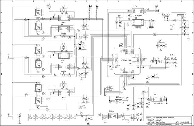 Brushless motor controller - schematic