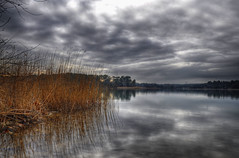 Provence Winter (marcovdz) Tags: winter lake clouds hiver lac provence nuages hdr rservoir 3xp raltor
