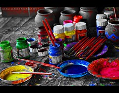Colors.. (Rimi's Magik!) Tags: life friends india color water colors painting for dance nikon paint play culture trends chennai orissa palette sheds odissi d90