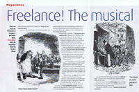 Article in teh Journalist called Freelance: the musical