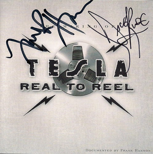 01/14/10 Tesla Reel To Reel CD Booklet (Autographed by Dave Rude & Frank Hannon 01/14/11)