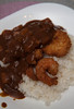 Homecook::: Japanese Chicken &Prawn Curry Don
