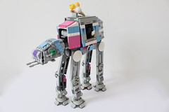 All Terrain-Ice Cream Transport (Louis K.) Tags: pink terrain ice water dark star george back cool all lego bright 5 transport cream slide battle lucas darth empire decal wars vader armored strikes episode atat hoth tshort imperal