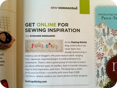 Feeling Stitchy in Stitch Magazine