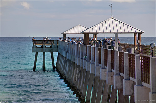 fishing pier by Alida's Photos