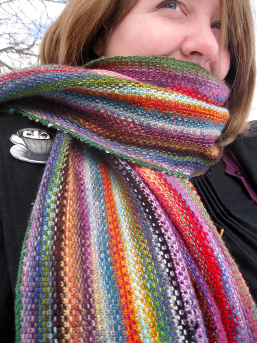 Free Knitting Patterns For Leftover Sock Yarn : Mini Mania Scarf Exchanging Fire