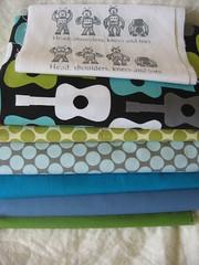 qulit fabrics? (weepereas) Tags: robot quilt guitar lagoon fabric cotton planning slate lime patches kona amybutler michaelmiller hanies fullmoondot