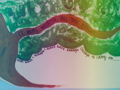 Courage (17Aℓaina) Tags: tree art wall writing painting rainbow quote gradient strength sharpie courage postsecret