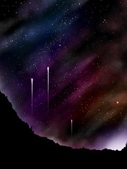 The Tale of Three Brothers (.icjaker) Tags: art apple illustration painting finger space deep rocky sketchbook nebula pro outer void comet spaceart ipad