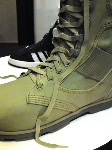 Close up of army boot