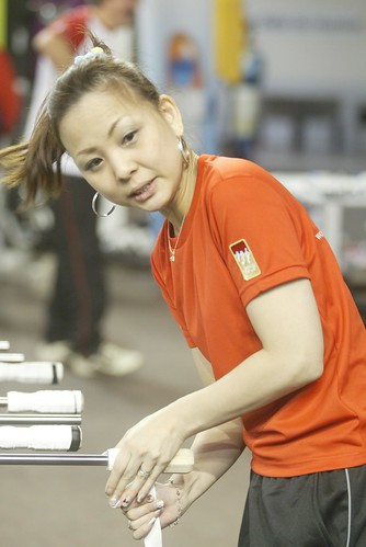 joueuse japonaise et poignées