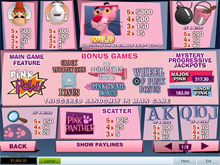 free Pink Panther slot mini symbol