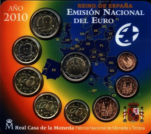 Cartera con los Euros de España del 2010