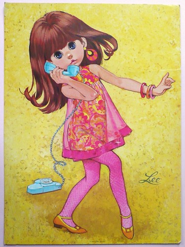 Vintage 60s big eyed print by LEE