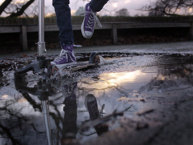 Puddle Scooting.