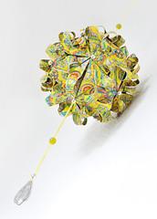 paper flower (S.CHICK) Tags: flower home origami fenster zuhause decoration gelb blume deco blte papier muster bunt perlen paperflower edel deko dekoration schick kusudama blumig aufhngen hbsch dawanda papierblte