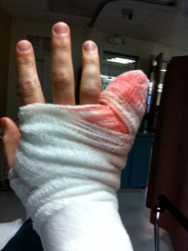 Bandaged at the ER