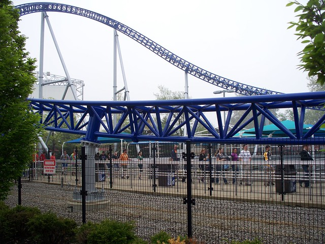 Cedar Point - New Paint on Millennium Force